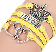 Bracelet Bangles Alloy Crown / Others Hip-Hop / Rock Birthday / Daily Jewelry Gift Yellow,1pc