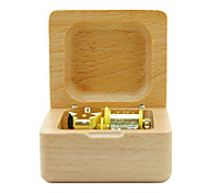 Music Box Castle in the Sky / Spirited Away / Canon Sweet / Special / Creative Wood Beige For Boys / For Girls