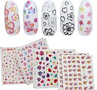 4 Patterns/Sheet Cute Flower Nail Art Water Decals Transfer Sticker BORN PRETTY