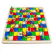 Jogo de Tabuleiro Jogo de xadrez Brinquedo Educativo para presente Blocos de Construir Hobbies de Lazer Circular Quadrangular Madeira2 a