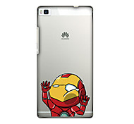 For Huawei Case / P8 Pattern Case Back Cover Case Cartoon Soft TPU Huawei Huawei P8 / Huawei P7