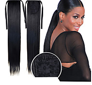 Excellent Quality Synthetic 22 Inch Long Straight Ribbon Ponytail Hairpiece - 16 Colors Available