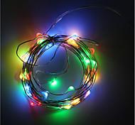 3AA питанием от батареи 5м 50 водить прокладки медной проволоки рождественские огни украшения освещение праздника с коробкой батареи