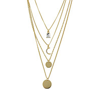 Round Gold Pendant Necklaces