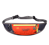 2 L Waist Bag/Waistpack Camping & Hiking Traveling Outdoor Multifunctional Dark Gold Nylon