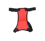Dog Harness Safety Solid Red Mesh