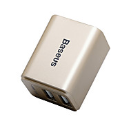 Baseus Portable Charger For iPad For Cellphone For Tablet For iPhone 2 USB Ports US Plug