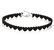 Necklace Europe Collar Fashio Heart Shape Short Black Diamond Necklace Choker Necklace