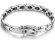 Herrn Damen Ketten- & Glieder-Armbänder Leder Stahl Silber Schmuck Für Normal 1 Stück