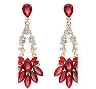 Drop Earrings Ruby Crystal Crystal Fashion Red Jewelry Wedding Party Daily 1 pair