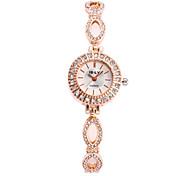 Mulheres Relógio de Moda Relógio de Pulso Simulado Diamante Relógio Quartzo Lega Banda Luxuoso Prata Dourada Dourado Prata