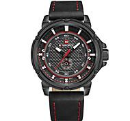 NAVIFORCE Brand Men's Luxury Outdoor Sport Men Watch 30m Waterproof Week/Date Display Men's Wristwatch