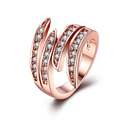 Hot sell Women Gift Rose gold plated Wings Ring Austrian Crystals Ring Nickle free Antiallergic Factory Price LKN18KRGPR007