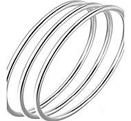 Bracelet Bangles S999Sterling Silver Others Natural Birthday Gift Valentine Jewelry Gift Silver1pc