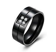 Men's Ring AAA Cubic Zirconia Fashion Steel Jewelry For Party Casual