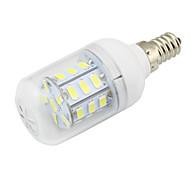 E14 2w 150-200lm светодиодный фонарик кукурузы 27smd5730 dc / ac12-24v для домашнего rv морской прохладный / теплый белый (1 шт)