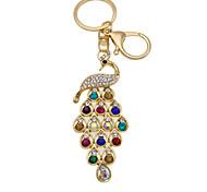 Fashion peacock diamond key buckle car accessories Handbag Pendant