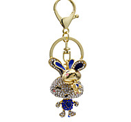 Fashion and other diamond rabbit Keychain bag lady lovely creative decoration