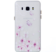 For Samsung Galaxy J510 J310  Glow in the Dark Case Back Butterfly Pattern Soft TPU Cover Case for Samsung Galaxy J3