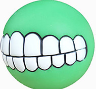 Dog Toy Pet Toys Ball Squeak / Squeaking Green PU Leather