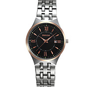 Unisex Dress Watch Quartz Alloy Band Silver