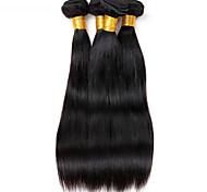 Ciocche a onde capelli veri Malese dritto 12 mesi 3 pezzi tesse capelli