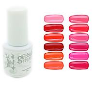 yemannvyou®sequins УФ цвет гель лак для ногтей no.1-12 (5мл, разные цвета)