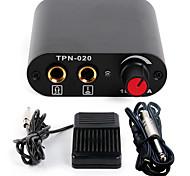 kit de tatuaje Solong Mini tatuaje fuente de alimentación cable de clip de pedal para el kit de la máquina p162-1 de color negro