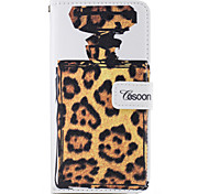 For Apple iphone7 iphone7 Plus iphone6s iphone6s Plus iphone6 iphone6 Plus The Perfume Bottles Leopard Grain Pattern PU Leather Case