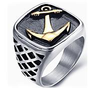 Муж. Массивные кольца Кольцо Мода бижутерия Титановая сталь Бижутерия Назначение Повседневные