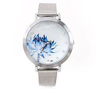 Women's Fashion Casual Lotus Design Simple High-Grade Quartz Watch