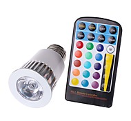 5W E26/E27 Focos LED MR16 1 COB 450 lm RGB Decorativa Impermeable Regulable Control Remoto AC 85-265 V 1 pieza