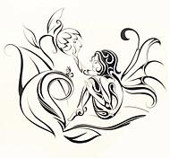 1шт Переброска воды наклейки татуировки большая картина человека обратно татуировки наклейки