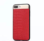 Para Other Funda Cubierta Trasera Funda Un Color Suave Cuero Auténtico para Apple iPhone 7 Plus iPhone 7