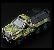 Camion militare Veicoli a molla Giocattoli Car 1:10 Metallo Verde Modellino e gioco di costruzione