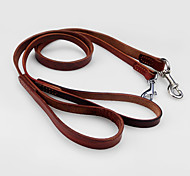 Leash Adjustable/Retractable Running Solid Genuine Leather