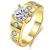 Ring Kubikzirkonia Zirkon Kubikzirkonia Kupfer versilbert vergoldet Rose Gold überzogen Modisch Gold Silber Rose Schmuck Alltag Normal1