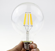 1PCS 6W E27/B22 LED Filament Bulbs G95 6 COB 600 lm Warm White Dimmable AC 220-240 or AC 110-130 V