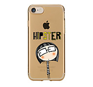 For iPhone 7 7Plus Back Cover Transparent Body Ultra-thin Cartoon TPU for iPhone 6s 6 Plus iPhone 6s 6 iPhone 5s 5 5E 5C