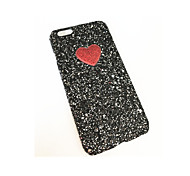 Para Antipolvo Funda Cubierta Trasera Funda Corazón Dura Policarbonato para Apple iPhone 7 Plus iPhone 7 iPhone 6s Plus/6 Plus iPhone 6s/6