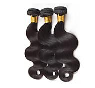 Ciocche a onde capelli veri Peruviano Ondulato naturale 12 mesi 3 pezzi tesse capelli
