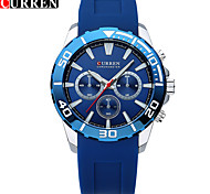 CURREN Silicone Fashion Movement The False Eye Han Edition Silicone Watches