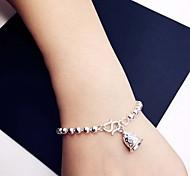 Armbänder Ketten- & Glieder-Armbänder Sterling Silber Herzform Others Modisch Schmuck Geschenk Silber,1 Stück