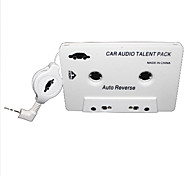 Coche adaptador de cassette de audio para MP3 / MP3 / Celulares - Blanco (3.5mm Plug)