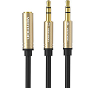 VENTION® 3.5mm Mic Audio Cable 1 Female to 2 Male Earphone Headphone AUX Splitter Cable for PC Laptop Tablet iPhone