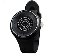 Unisex Fashion Watch Unique Creative Watch Quartz Rubber Band Black