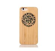 Para Antigolpes En Relieve Diseños Funda Cubierta Trasera Funda Animal Dura Bambú para Apple iPhone 6s/6