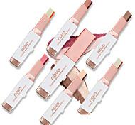 1Pcs Double Color Stereo Gradient Velvet Shimmer Eyeshadow Stick Earth Color Eye Shadow Cream Pen Novo Makeup Palette Cosmetics