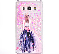 For Samsung Galaxy G530 Case Cover Sexy Beauty Pattern Small Fresh Series PC Material Love Quicksand Flash Powder Phone Case