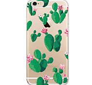 For Apple iPhone 7 7Plus 6S 6Plus Case Cactus  Pattern HD TPU Phone Shell Material Phone Case
